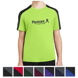 Sport-Tek® Youth PosiCharge® Competitor™ Sleeve-Blocked Tee